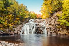 mary ann falls in the fall - stock photo