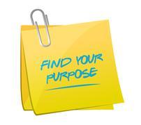 Stock Illustration of find your purpose memo illustration design