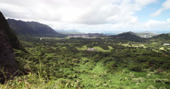 Timelapes Hawaii Nu'uanu Pali Lookout Left View Stock Footage