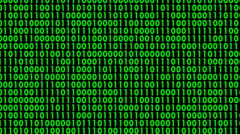Green binary characters on computer screen in seamless loop T-11 - stock footage