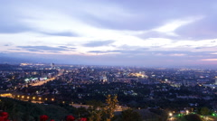 Panorama of night city. Almaty, Kazakhstan. Time Lapse Stock Footage
