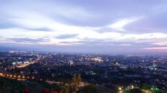 City at dusk. Almaty, Kazakhstan. TimeLapse Stock Footage