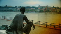 View of Buda side of Budapest, time lapse, Stock Footage