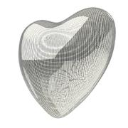 Heart lines mesh 3d Stock Illustration