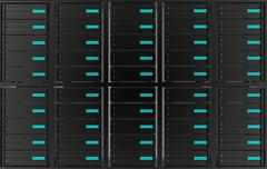 Stock Illustration of computer servers