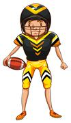 An American football player - stock illustration