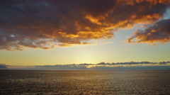 Ocean Sunset with dramatic clouds - stock footage