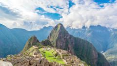Time Lapse of Machu Picchu in 4k Stock Footage
