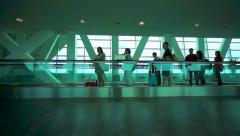 Walkway Airport, time-lapse Stock Footage