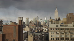 Panning wide shot of cityscape / New York City, New York, United States Stock Footage