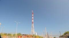 Oil Refinery HD 1080P : refinery fire gas torch  DSCN3013 Stock Footage