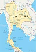 Thailand Political Map - stock illustration