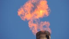 Oil Refinery HD 1080P : refinery fire gas torch    DSCN3014 Stock Footage