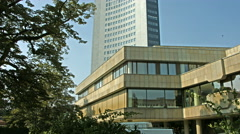 The Gewandhaus, the concert hall of Leipzig. Stock Footage