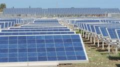 Solar panels on solar farm.   DSCN3007 - stock footage