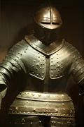 steel knightly armor - stock photo