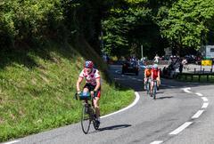 amateur cyclists - stock photo