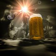 Stock Illustration of 3d beer heaven.