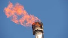 Oil Refinery HD 1080P : refinery fire gas torch  DSCN3017 Stock Footage