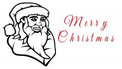 Merry christmas happy new year hand drawn sketch animation Stock Footage