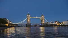 Ultra Hd 4K Time lapse of Tower Bridge in London - iconic symbol of London. Stock Footage