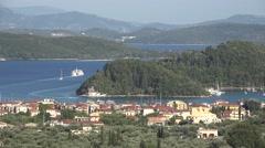 Landscape Lefkada Island Isle in Greece Tropical Beach View Skorpios Scorpios 4K Stock Footage