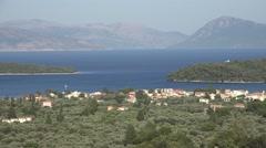 4K Landscape Lefkada Island Isle in Greece Tropical Beach View Skorpios Scorpios Stock Footage