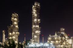 Oil refinery petrochemical factory, plant Kuvituskuvat