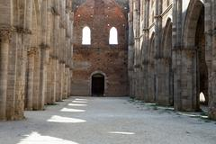Abbey of san galgano, tuscany, italy Stock Photos