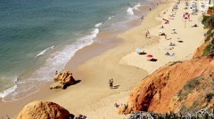 Stock Video Footage of  Olhos de agua beach in Albufeira, Portugal