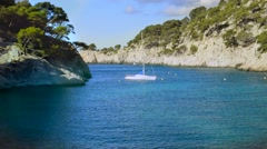 calanque  of Cassis - stock footage