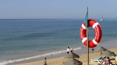 Falesia beach in Albufeira, Portugal Stock Footage