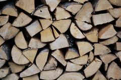 Firewood wood pile Stock Photos