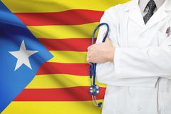 Concept of national healthcare system - catalonia - estelada Stock Illustration