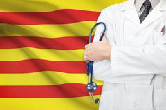 Concept of national healthcare system - catalonia Stock Illustration