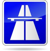 Freeway blue sign Stock Illustration