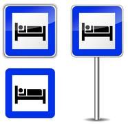 Bed signs Stock Illustration