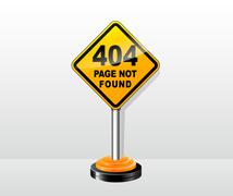 page not found concept - stock illustration