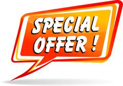 Stock Illustration of special offer speech bubble