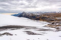 Snowy andes mountains Stock Photos