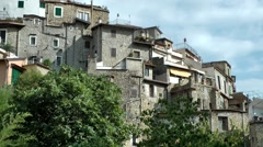 Europe Italy Liguria Airole village 007 old grey houses at hillside Stock Footage