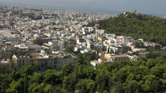 Athens Greece city from Acropolis Mountain 4K 034 Stock Footage