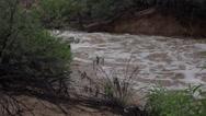 Stock Video Footage of 4K Dry Wash Raging Stream Tucson Arizona Weather
