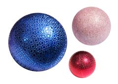 Christmas color spheres Stock Photos