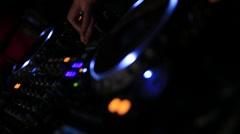 Dj playing music - II Stock Footage