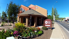 Greater Flagstaff Chamber Of Commerce Office Building Slow Zoom Stock Footage