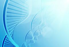 A dna in medical colour Stock Illustration