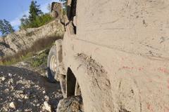 Muddy vehicle Stock Photos
