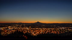 Portland Oregon Sunrise Stock Footage