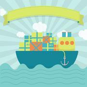 Cargo ship Piirros